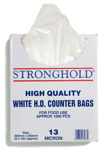 HD Counter bags - extra strong - in Box - 10 x 12 (1000)